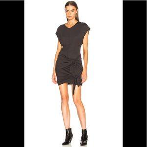 ISABEL MARANT ETOILE Grey Draped Jersey Dress